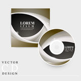 Modern CD cover template design Stock Image