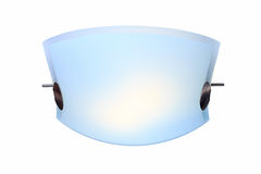 Modern ceiling lamp. On the white background Stock Photography