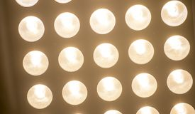Modern ceiling lamps. At a luxurious restaurant stock photos