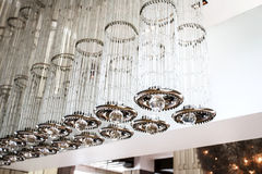 Modern ceiling lighting Royalty Free Stock Images
