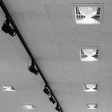 Modern ceiling lights Royalty Free Stock Photos