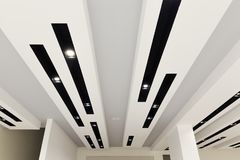 Modern ceiling lights. With black elements Royalty Free Stock Photography