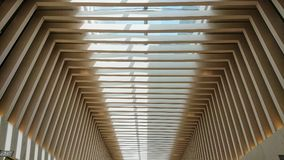 Modern ceiling of a luxury shopping center stock photography