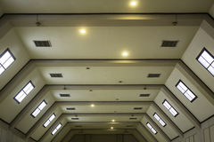 Modern ceiling. Perspective view of modern ceiling interior design Stock Photos