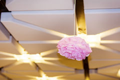 modern ceiling with pink paper  lamp Royalty Free Stock Images