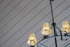 Modern ceilling of a residential house. Modern lamps on the ceiling of a residential house royalty free stock images