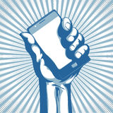 Modern cell phone stock illustration