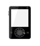 Modern cell phone with vintage dial Royalty Free Stock Photo