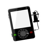 Modern cell phone with vintage ear piece Royalty Free Stock Photography
