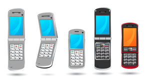 Modern cell phones Royalty Free Stock Image
