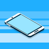 Modern Cell Smart Phone 3d Isometric Flat Design Stock Image