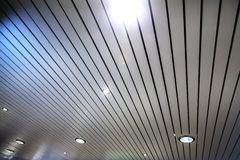Modern celling with spotlight illumination Stock Photos