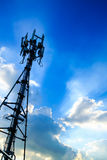 Modern Cellular Tower Royalty Free Stock Photo