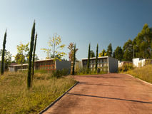 Modern cemetery in Galicia Royalty Free Stock Image