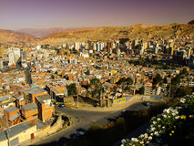 Modern centre of La Paz Stock Photos