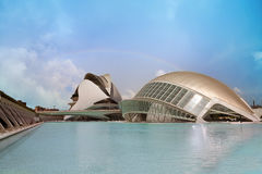 Modern centre of science in Valencia Stock Photos