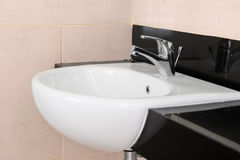 Modern ceramic hand wash basin Royalty Free Stock Image
