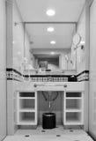 Modern ceramic white wash basin, mono tone Stock Images