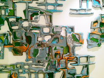 Modern ceramisch muurart. Royalty-vrije Stock Foto