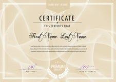 Modern Certificaat Royalty-vrije Stock Fotografie