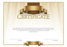 Modern Certificaat en diploma'smalplaatje Vector Stock Afbeelding