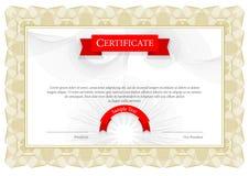 Modern Certificaat Malplaatjediploma's, munt Vector Royalty-vrije Stock Foto