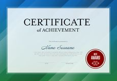 Modern certificate template Royalty Free Stock Images