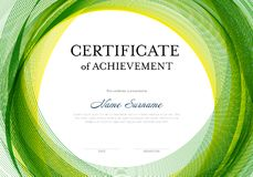 Modern certificate template Stock Photography