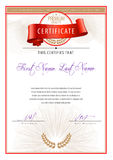 Modern Certificate and diplomas template. Vector Royalty Free Stock Photography