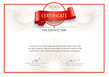 Modern Certificate and diplomas template. Vector Royalty Free Stock Photo