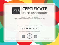 Modern certificate frame design template vector illustration