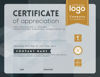 Modern certificate frame design template Royalty Free Stock Images