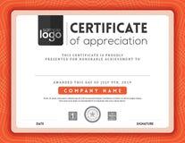 Modern certificate frame design template royalty free illustration