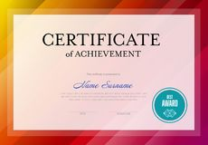Modern certificate template Royalty Free Stock Photography