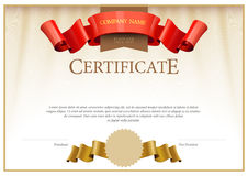 Modern Certificate. Template diplomas, currency. Stock Images
