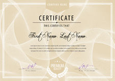Modern Certificate. Royalty Free Stock Photography