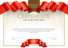Modern Certificate. Template diplomas, currency. Royalty Free Stock Photography