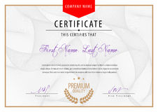 Modern Certificate. Template diplomas, currency Royalty Free Stock Image