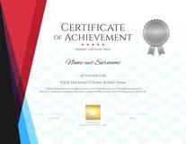 Modern certificate template with elegant border frame, Diploma d. Esign for graduation or completion stock illustration