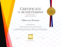 Modern certificate template with elegant border frame, Diploma d royalty free illustration