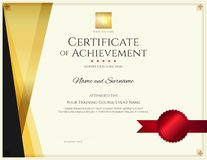 Modern certificate template with elegant border frame, Diploma d vector illustration