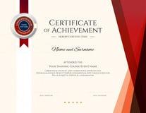Modern certificate template with elegant border frame, Diploma design for graduation or completion vector illustration