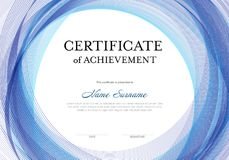 Modern certificate template Royalty Free Stock Image