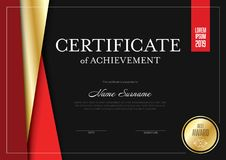 Modern certificate template Stock Images