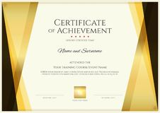 Free Modern Certificate Template With Elegant Border Frame, Diploma D Royalty Free Stock Photo - 130250325