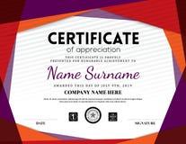 Modern certificate triangle background frame design stock illustration