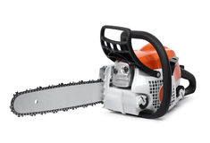 Modern chain saw isolated Royalty Free Stock Photos