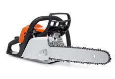 Modern chain saw isolated Stock Photography