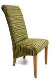 Modern chair. Modern design, upholstered in green-brown stripped textile Royalty Free Stock Image