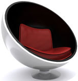 Modern Chair. Modern decorative red and white Chair Stock Photography